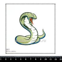 Шаблон для броши Кобра 963, фетр Корея Премиум, толщина 1,25 мм, размер 10*10 см 063827 - 99 бусин