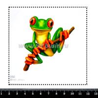 Шаблон для броши Лягушка 956, фетр Корея Премиум, толщина 1,25 мм, размер 10*10 см 063829 - 99 бусин