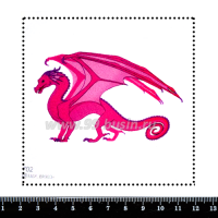 Шаблон для броши Розовый дракон 702, фетр Корея Премиум, толщина 1,25 мм, размер 10*10 см 063832 - 99 бусин