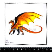 Шаблон для броши Дракон 703, фетр Корея Премиум, толщина 1,25 мм, размер 10*10 см 063834 - 99 бусин