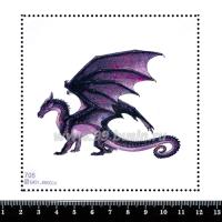 Шаблон для броши Дракон сиреневый 705, фетр Корея Премиум, толщина 1,25 мм, размер 10*10 см 063835 - 99 бусин