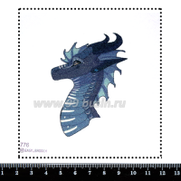 Шаблон для броши Дракон 776, фетр Корея Премиум, толщина 1,25 мм, размер 10*10 см 063837 - 99 бусин