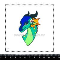 Шаблон для броши Дракон 774, фетр Корея Премиум, толщина 1,25 мм, размер 10*10 см 063838 - 99 бусин