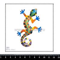 Шаблон для броши Ящерица 965, фетр Корея Премиум, толщина 1,25 мм, размер 10*10 см 063840 - 99 бусин