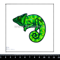 Шаблон для броши Хамелеон зеленый 814, фетр Корея Премиум, толщина 1,25 мм, размер 10*10 см 063842 - 99 бусин