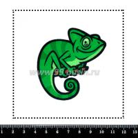 Шаблон для броши  Хамелеон на веточке, фетр Корея Премиум, толщина 1,25 мм, размер 10*10 см 063847 - 99 бусин
