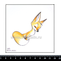 Шаблон для броши Лис 140, фетр Корея Премиум, толщина 1,25 мм, размер 10*10 см 063857 - 99 бусин