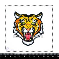 Шаблон для броши Тигр 179, фетр Корея Премиум, толщина 1,25 мм, размер 10*10 см 063863 - 99 бусин