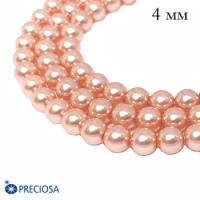 Жемчуг хрустальный Preciosa Maxima 4 мм Peach 10 штук Чехия 063903 - 99 бусин