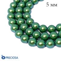Жемчуг хрустальный Preciosa Maxima 5 мм Pearlescent Green 10 штук Чехия 063914 - 99 бусин