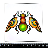 Шаблон для броши Жук фантазийный/3 части, фетр Корея Премиум, толщина 1,25 мм, размер 10*10 см 063923 - 99 бусин