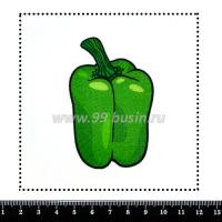 Шаблон для броши Зелёный болгарский перец, фетр Корея Премиум, толщина 1,25 мм, размер 10*10 см 063928 - 99 бусин