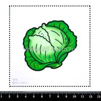 Шаблон для броши Капуста 173, фетр Корея Премиум, толщина 1,25 мм, размер 10*10 см 063929 - 99 бусин