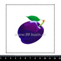Шаблон для броши Слива, фетр Корея Премиум, толщина 1,25 мм, размер 10*10 см 063932 - 99 бусин