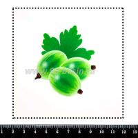 Шаблон для броши Крыжовник, фетр Корея Премиум, толщина 1,25 мм, размер 10*10 см 063935 - 99 бусин