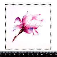 Шаблон для броши Магнолия, фетр Корея Премиум, толщина 1,25 мм, размер 10*10 см 063937 - 99 бусин