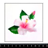 Шаблон для броши Гибискус, фетр Корея Премиум, толщина 1,25 мм, размер 10*10 см 063938 - 99 бусин