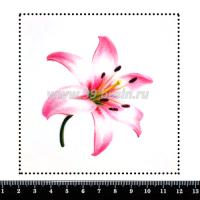Шаблон для броши Лилия, фетр Корея Премиум, толщина 1,25 мм, размер 10*10 см 063939 - 99 бусин