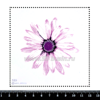 Шаблон для броши Гербера 189, фетр Корея Премиум, толщина 1,25 мм, размер 10*10 см 063940 - 99 бусин