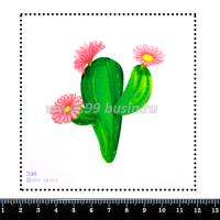 Шаблон для броши Кактус 396, фетр Корея Премиум, толщина 1,25 мм, размер 10*10 см 063943 - 99 бусин