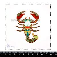 Шаблон для броши Рак 793, фетр Корея Премиум, толщина 1,25 мм, размер 10*10 см 063947 - 99 бусин
