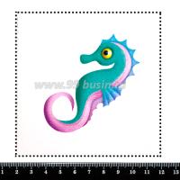 Шаблон для броши Морской конёк 367, фетр Корея Премиум, толщина 1,25 мм, размер 10*10 см 063948 - 99 бусин