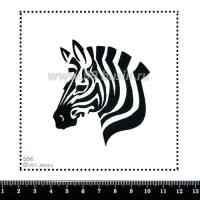 Шаблон для броши Зебра 656, фетр Корея Премиум, толщина 1,25 мм, размер 10*10 см 063953 - 99 бусин