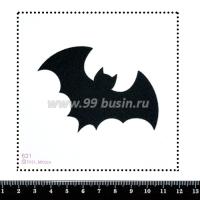 Шаблон для броши Значок Бэтмена 631, фетр Корея Премиум, толщина 1,25 мм, размер 10*10 см 063957 - 99 бусин