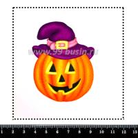 Шаблон для броши Тыква Джек, фетр Корея Премиум, толщина 1,25 мм, размер 10*10 см 063962 - 99 бусин