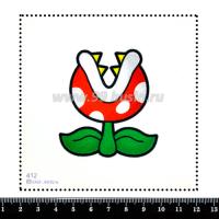 Шаблон для броши Пиранья Марио 412, фетр Корея Премиум, толщина 1,25 мм, размер 10*10 см 063963 - 99 бусин