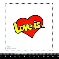 "Шаблон для броши Сердечко ""Love is..."" 650, фетр Корея Премиум, толщина 1,25 мм, размер 10*10 см 063964 - 99 бусин"