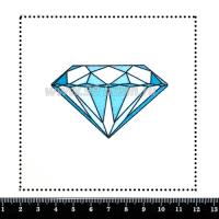 Шаблон для броши Бриллиант, фетр Корея Премиум, толщина 1,25 мм, размер 10*10 см 063967 - 99 бусин