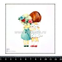 Шаблон для броши Подружки, фетр Корея Премиум, толщина 1,25 мм, размер 10*10 см 063971 - 99 бусин