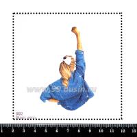Шаблон для броши Девушка в джинсовой куртке, фетр Корея Премиум, толщина 1,25 мм, размер 10*10 см 063973 - 99 бусин