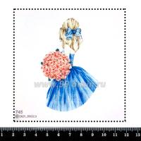 Шаблон для броши Девушка с букетом розовых роз 745, фетр Корея Премиум, толщина 1,25 мм, размер 10*10 см 063975 - 99 бусин