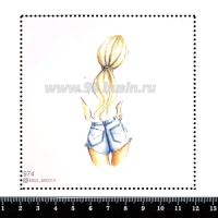 Шаблон для броши Девушка в цветочном платье 993, фетр Корея Премиум, толщина 1,25 мм, размер 10*10 см 063977 - 99 бусин
