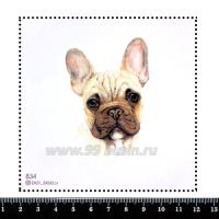 Шаблон для броши Бульдог 834, фетр Корея Премиум, толщина 1,25 мм, размер 10*10 см 063980 - 99 бусин
