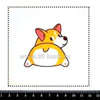 Шаблон для броши Корги, фетр Корея Премиум, толщина 1,25 мм, размер 10*10 см 063988 - 99 бусин