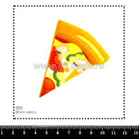 Шаблон для броши Пицца 055, фетр Корея Премиум, толщина 1,25 мм, размер 10*10 см 063996 - 99 бусин