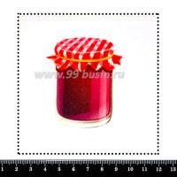 Шаблон для броши Баночка варенья, фетр Корея Премиум, толщина 1,25 мм, размер 10*10 см 063997 - 99 бусин