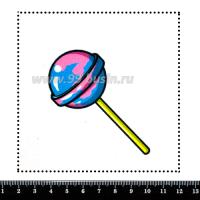 Шаблон для броши Леденец розовый/голубой, фетр Корея Премиум, толщина 1,25 мм, размер 10*10 см 064003 - 99 бусин