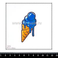 Шаблон для броши Мороженое в рожке 1053, фетр Корея Премиум, толщина 1,25 мм, размер 10*10 см 064005 - 99 бусин