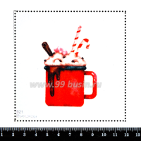 Шаблон для броши Горячий шоколад 921, фетр Корея Премиум, толщина 1,25 мм, размер 10*10 см 064008 - 99 бусин