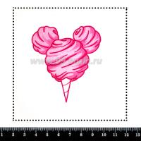 Шаблон для броши Микки рожок, фетр Корея Премиум, толщина 1,25 мм, размер 10*10 см 064010 - 99 бусин