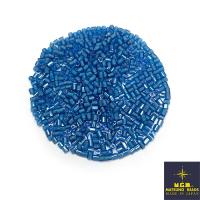 Рубка Matsuno Hexagon 2.1 мм цвет 15212 голубой хрустальный, белое отверстие Япония 10 грамм 064064 - 99 бусин