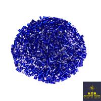 Рубка Matsuno Hexagon 2.1 мм цвет 44 синий, серебристое отверстие Япония 10 грамм 064065 - 99 бусин