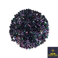 Рубка Matsuno Hexagon 2.1 мм цвет 708 фиолетово-зелёный ирис Япония 10 грамм 064070 - 99 бусин