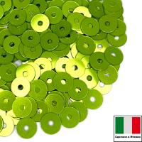 Пайетки 4 мм Италия плоские цвет 2029 Зелёный металлик 3 грамма 064073 - 99 бусин
