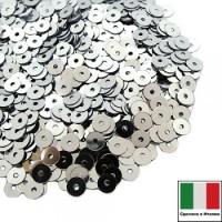 Пайетки 2 мм Италия плоские цвет 1111 Argento Metallizzato 2 грамма 064081 - 99 бусин