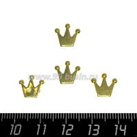 Бусина Премиум Корона 10*10*3 мм, цвет золото 1 штука 064109 - 99 бусин